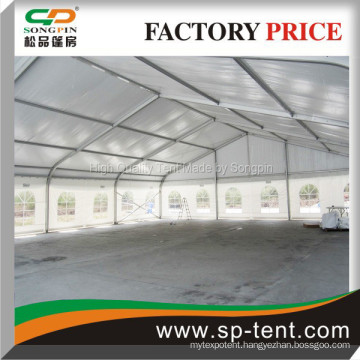 church curved marquee 15m x20m with transparent window for 600 people