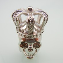 Stal nierdzewna Cross Crown Men Skull Ring