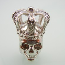 Stainless Steel Cross Crown Men Skull Ring
