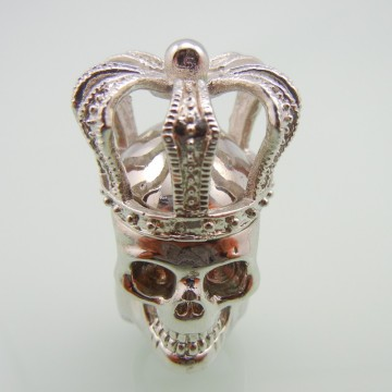 Rostfritt stål Cross Crown Men Skull Ring