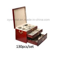 Conjunto de talheres de mesa de mesa de aço inoxidável High-Class de 130PCS