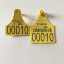 New Product for Green Cattle Ear Tag Laser printing cattle eartag for cattle use export to France Metropolitan Wholesale