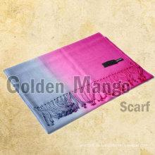 Mantón de pashmina de lana de color de dos tonos