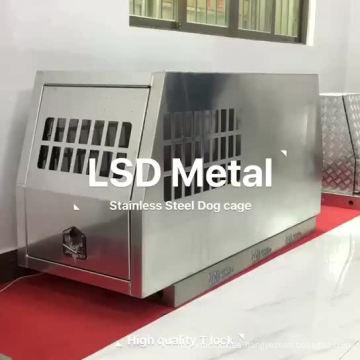 Cama para perros de aleación de aluminio para exteriores con caja de herramientas con dosel de ute