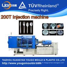Servo motor 200T machine à moulage par injection plastique pour produits en paroi mince