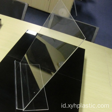 Stand Desktop Acrylic Display Pakaian Transparan