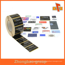 Guangzhou vendor wholesale printing and packaging material custom self adhesive hat label sticker