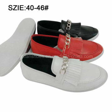 New Style Men′s Slip on Tassel Casual Leather Shoes (MP16721-16)
