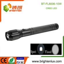 China Bulk Verkauf Aluminium 10w Notfall leistungsstarke 5 Mode 3D Zoomable Brightest Günstige Beste cree t6 LED-Taschenlampe