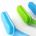Brosse de nettoyage de douche en silicone pour animaux de compagnie
