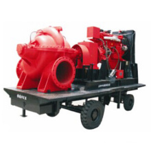Mobile Trailer Split Casing Sewage Diesel Pump