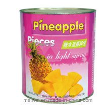 Fruit Canned Pineapple Pieces in Light Syrup