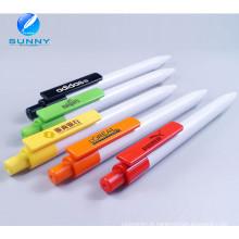 Pena plástica barata colorida da propaganda da pena de bola 2015 com impressão do logotipo