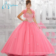 Beading Crystal Ball Gowns Two Pieces Tulle Quinceanera Dress