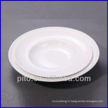 P & T en usine de porcelaine plaques à pâte, plaques profondes, plaques de céramique
