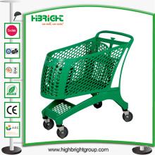 Carrito de compras de plástico para supermercado grande y centro comercial