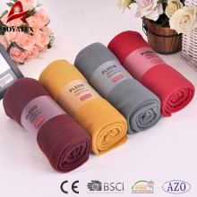 promotion high quality 100% polyester plain thick polar fleece blanket