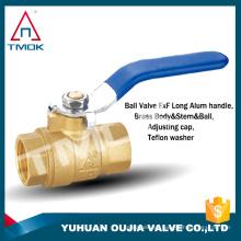 Válvulas de bola de latón hechas de cobre que funciona bien y fácil de llevar las tuberías y otros lugares han hecho sin