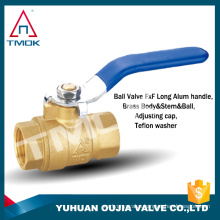 Brass ball valves made of copper it functions well and easy to carry pipes and other places have done without