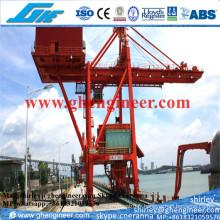 Déchargeur de grappe de navire monté sur rail 800t pour Bullk Cargo Ore