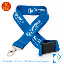 Custom Blue Double Side Heat Transferred Sublimation Lanyard (LN-0129)