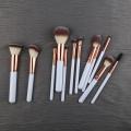 Private Label Logo plastic Cosmetic Makeup Brush Set