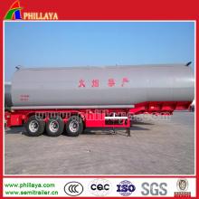Semirremolque cisterna de combustible de acero al carbono con volumen Opptinal