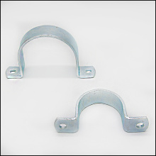 u-shape metal clip silver pipe clamp