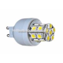 2015 NOUVEAU CE et ROHS base en céramique 3014 SMD G9 lampe LED avec housse en silicone, 3 ans de garantie