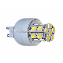 2015 NOVO CE e ROHS base de cerâmica 3014 SMD G9 levou lâmpada com tampa de silicone, 3 anos de garantia