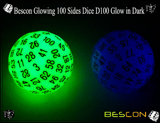 Bescon Glowing 100 Sides Dice D100 Glow in Dark-5