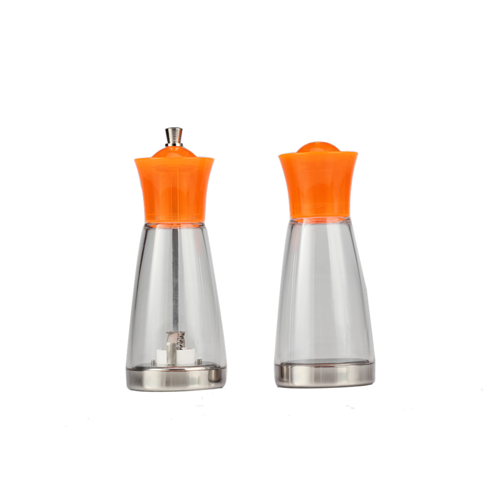 Glass Salt Shaker Set With Grinder