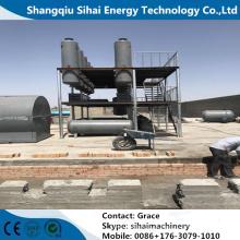 Óleo de motor de resíduos para óleo de base por destilação