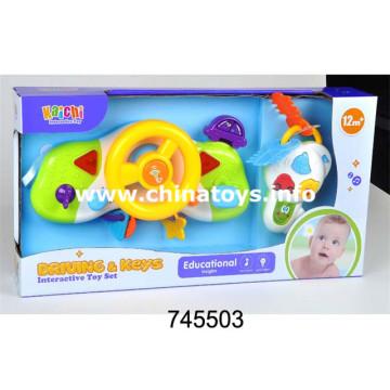 Ensemble de jouets électriques en plastique pour bébé Ensemble d'instruments de musique (745503)
