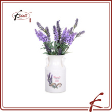 dolomite material flower vase with decal pattern made in Chaozhou