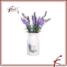 Dolomite material vaso de flores com decalque padrão feito em Chaozhou