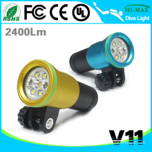 2015 wholesale led wide angle underwater scuba diving video torch light