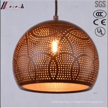 Бронзовый круглый металлический полый Кулон освещение столовая