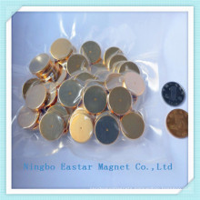 High Strong Force Disc Neodymium Magnet with Gold Plating