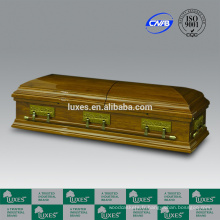 LUXES Style américain cercueils de bois solides avec doublure de cercueil-Cène