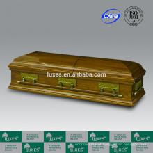 LUXES de estilo americano de caixões de madeira sólidas com caixão forro-última ceia