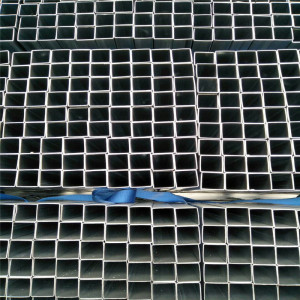0.67mm thickness galvanized surface treatment steel square pipe