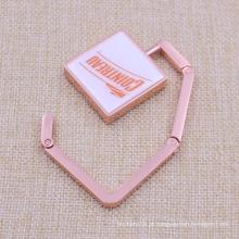Metal Plating Cobre Retângulo Bag Holder Hook Venda Personalizada