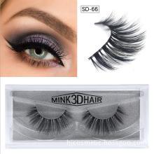 Black Cotton Stalk 3D Faux Mink Eyelashes Natural Long 3D Fake Eyelashes False Mink Lashes
