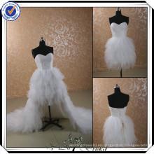JJ2946 Beaded Sweetheart vestido de novia de la falda extraíble 2014