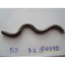Cadena de metal de alta calidad cadena de serpiente redonda