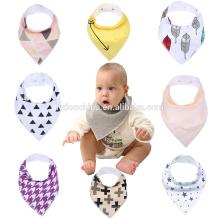 cores sortidas babadores naturais de algodão para meninos babay triângulo esay lavável bib moda bebê