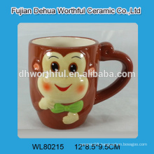 Ceramic cup with novelty monkey design