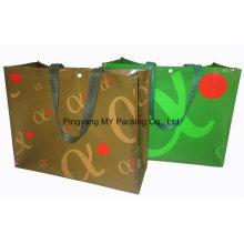 Eco Block Bottom Shop Promotion Tasche mit Knopf