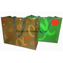 Eco Block Bottom Shop Promotion Bag with Button